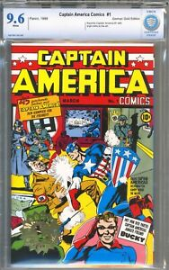 Captain America #1 - German Gold Stamp Variant / Reprint - CBCS 9.6 -White Pages