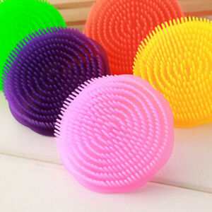 Round Anti Slid Shampoo Brush  Massager Scalp Shower Hair Washing Combs Nett