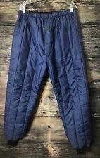 "Unisex Snow Pants Size XL Blue Insulated Lined Elastic Waist 38""W x30.5""L EUC"