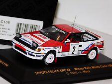 TOYOTA CELICA 4WD #2 SAINZ WINNER MONTE CARLO 1991 IXO RAC106 1/43