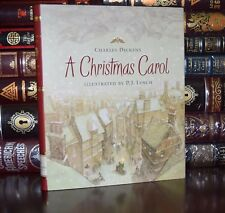 Christmas Carol by Charles Dickens Illustrated P.J. Lynch Unabridged Hardcover