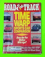 Alfa Romeo B.A.T. 9d, Ford GT40, Mazda RX-7 GTU - Road & Track August 1989