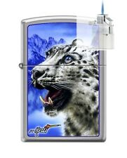 Zippo 7036 Mazzi Snow Leopard Lighter & Z-PLUS INSERT BUNDLE