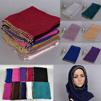 180*90CM Muslim Long Scarf Hijab Islamic Shawls Arab Headwear Shayla
