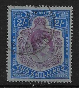 BERMUDA SG116bc 1941 2/= DEEP PURPLE & ULTRAMARINE p14¼ BROKEN TAIL VAR USED