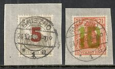 Poland stamps 1919 MI 135-136 on fragments  GNIEZNO  CANC  VF