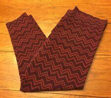 "XXL Aerie Burgundy Chevron Pattern Stretch Pants Ankle Length 26"" Inseam Soft"