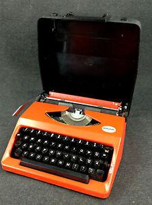 alte 70er Jahre Hercules 100 Reise Schreibmaschine Deko Shabby Loft Industrial
