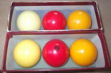 SUPERB QUALITY BELGIAN ARAMITH PROFESSIONAL BILLIARD BALLS - FULL SIZE, TWO SETS