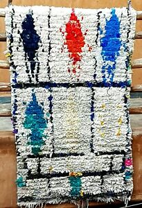 Vintage Moroccan Boucherouite rug 140 x 94 cm