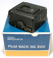 ZENZA BRONICA SQ Film Back 220 120 SQA SQ-Ai Am 6x6 Original Box