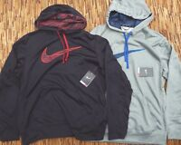 NIKE MENS LOGO THERMA-FIT PULLOVER TRAINING STAY WARM POLYESTER HOODIE LIST $55