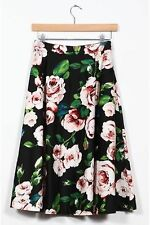 Polyester Pleated Regular Size Floral Skirts for Women