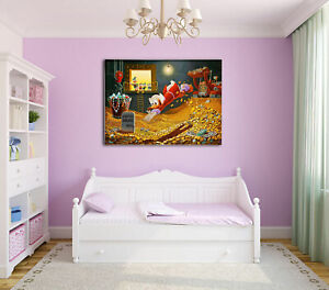 "24""x32""Scrooge McDuck HD Canvas prints Painting Home Decor Picture Wall art"