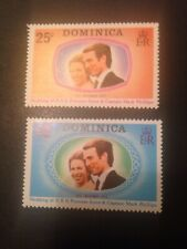 DOMINICA 1973 ROYAL WEDDING MINIATURE SHEET & SET OF COMMEMORATIVE STAMPS MNH