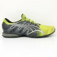 Puma Womens Voltaic 3 185071 11 Gray Volt Green Running Shoes Lace Up Size 8