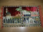 SILK VELVET - WALL CARPET WITH CABE PICTURE - 85X130 CM good condition and solid