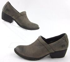 Born 'Kinney' Western Inspired Slip On Ankle Booties Distressed Brown Sz 6.5