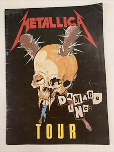 Original Metallica Damage Inc. Tour Program 1986 (Master Of Puppets Tour)