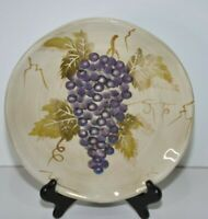 Cabernet Grape salad plate Purple grapes Hand Painted Tabletops unlimited