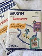 EPSON 10 Sheets A4 Iron on T Shirt Cool Peel Transfer Paper