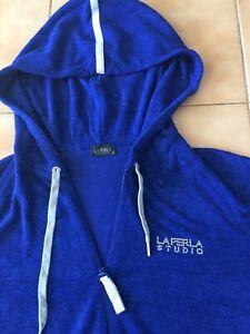 100% Original LA PERLA Studio * Sport Anzug mit Kapuze * Blau/Silber * Größe 3
