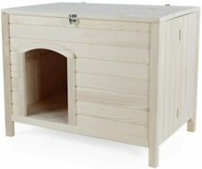 "Petsfit Indoor Wooden Dog House - Nature Wood - No Assembly - 31"" x 21"" x 24"""