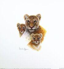 WARWICK HIGGS Family Portrait LION CUBS Humour art SIZE:36cm x 33cm  RARE
