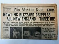 The Boston Post Newspaper 1940 New England Blizzard And World War 2