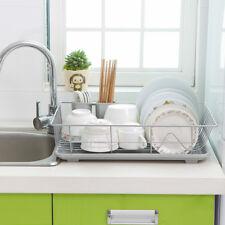 UK Kitchen Sink Dish Drainer Drying Rack Washing Holder Basket Organizer Tray
