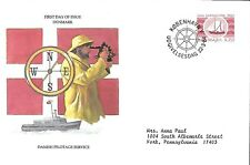 DENMARK 1984 FIRST DAY COVER, PILOTAGE SERVICE, 300TH ANNIVERSARY, BOAT