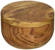 New listing - Damaged - Naturally Med Olive Wood Salt Keeper/Pot/Salt Box - Magnetic lock
