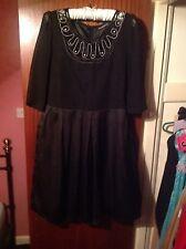 Black Skater Dress Size 8