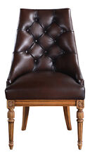 Hampton Library Chair Brown Leather Button Backed upholstery CHRW003L NEW