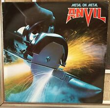Anvil ‎– Metal On Metal Lp EX 1982 France Issue Attic ‎– A 120 AT 1130