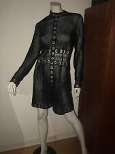 Designer THURLEY Black Cotton Lace Dress Womens 2 (10) RRP $599-Excellent Cnd'n
