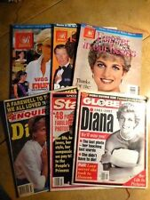 Lot Of 6 Princess Diana Memorial Issues: 3 Royalty Magazines + 3 News Magazines