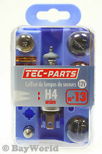 Lampenset 10tlg. H4 12V Bremslicht 21W 5W Sicherung 5A 10A 25A TEC-Parts 12809