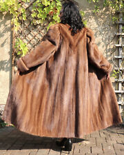 Nerzmantel Pelzmantel Nerz Pelz Damen Mantel Fell Passe Design Edel Camel Braun
