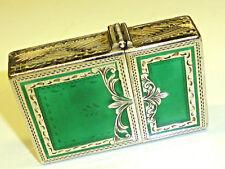 Vintage 800 Silver Green Enamel Case-Zippo lighter Insert PAT. 2517191-RARE