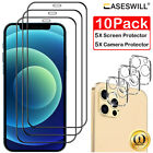 For iPhone 13 12 11 Pro X XR XS Max Caseswill Tempered Glass Screen Protector