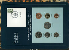 Coin Sets of All Nations Great Britain 50P 1985 1 £,20,10,5,2,1 Pence 1987