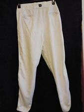 Wilson Adult XL Baseball/Softball Pants, White w/ Black Stripe Great Shape