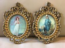Pinkie Blue Boy Picture Frame Wall Decor SP Mod DePose Italy Oval Concave Glass