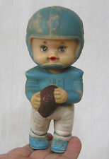 Vintage Rubber Doll Kiddie Products Football Player Child