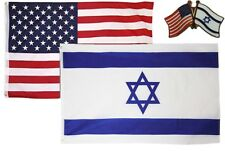 Wholesale Combo Usa & Israel Country 2x3 2'x3' Flag & Friendship Lapel Pin