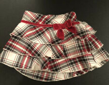 Children's Place Red Plaid Flannel Skirt 12 Months