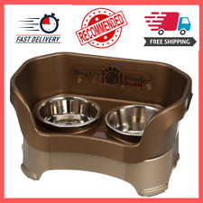 Water and Food Dish Bowl Tray Feeder Deluxe Mess-Proof For Dog/Cat, Medium, New