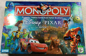 COMPLETE! 2007 Monopoly Disney Pixar Edition Cars Incredibles Toy Story Themed