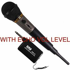 Emb-35 Dual-Purpose Wire/Wireless Undirectional Dynamic Microphone w/Echo Level